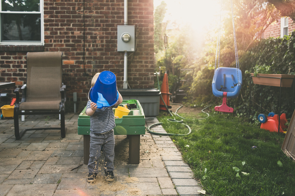Backyard sand play | Francesca Russell Photography & Films | Garden City Family Photographer