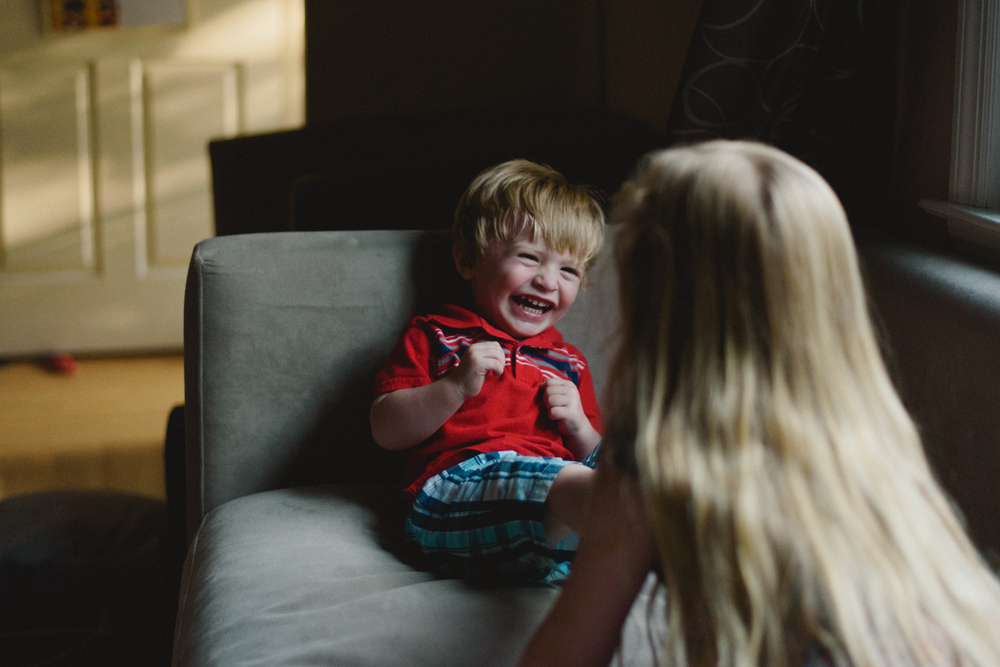 Francesca Russell Photography | Long Island Family Documentary Photography | Laughing boy