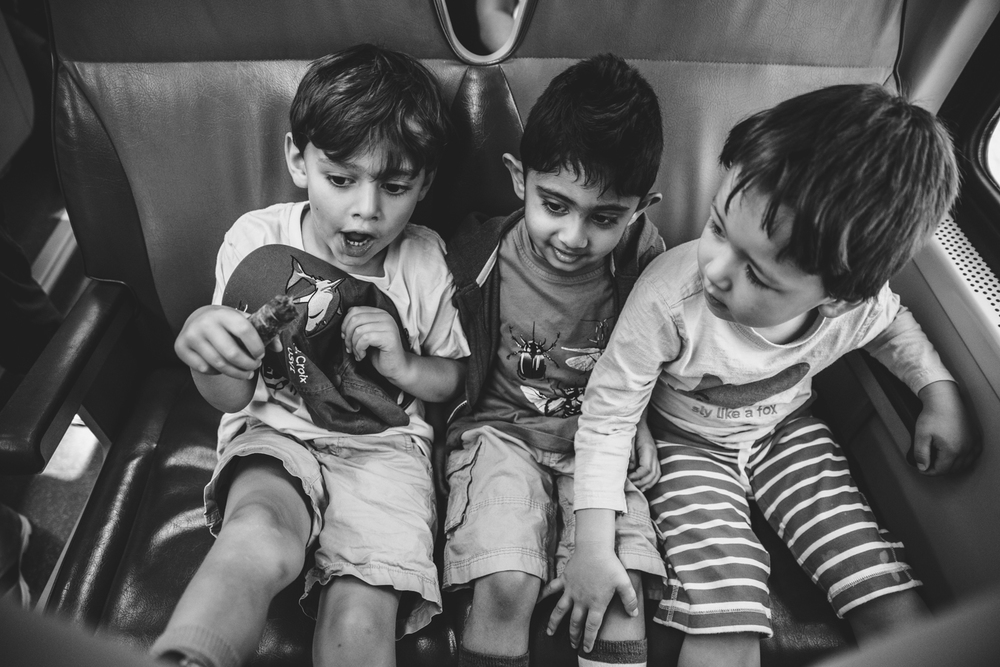 Francesca Russell Photography | Long Island Family Documentary Photography | Boys on Train