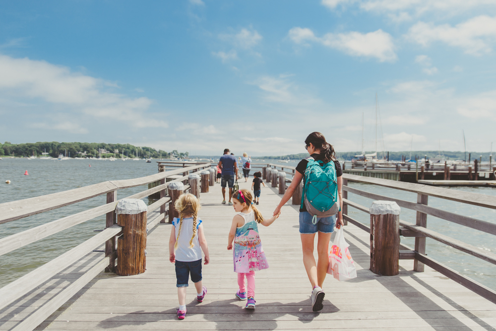 Francesca Russell Photography | Long Island Family Documentary Photography | Walking on the pier