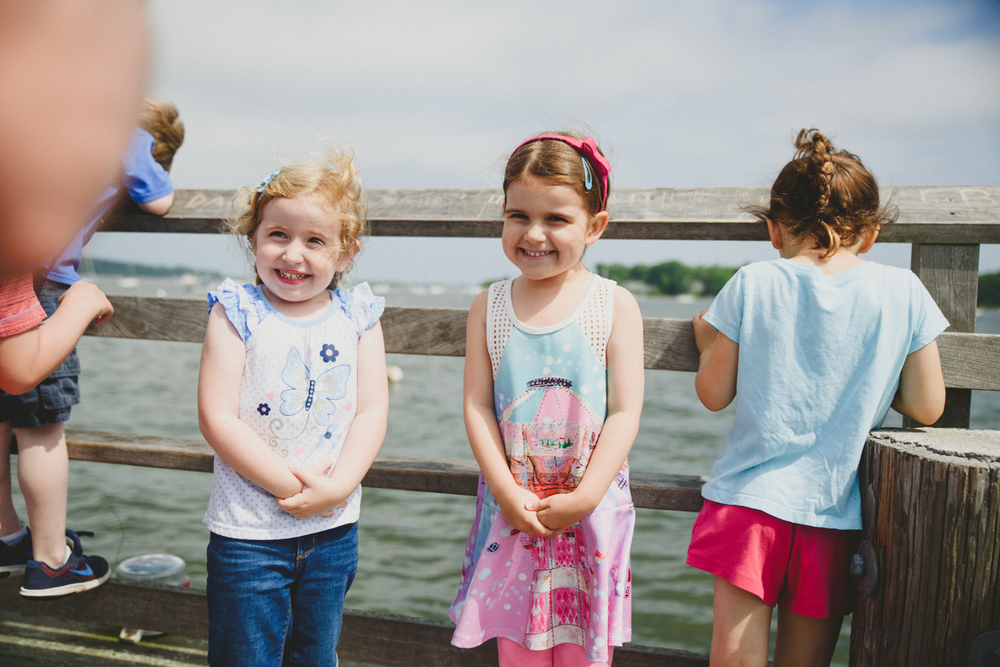 Francesca Russell Photography | Long Island Family Documentary Photography | Girls on pier