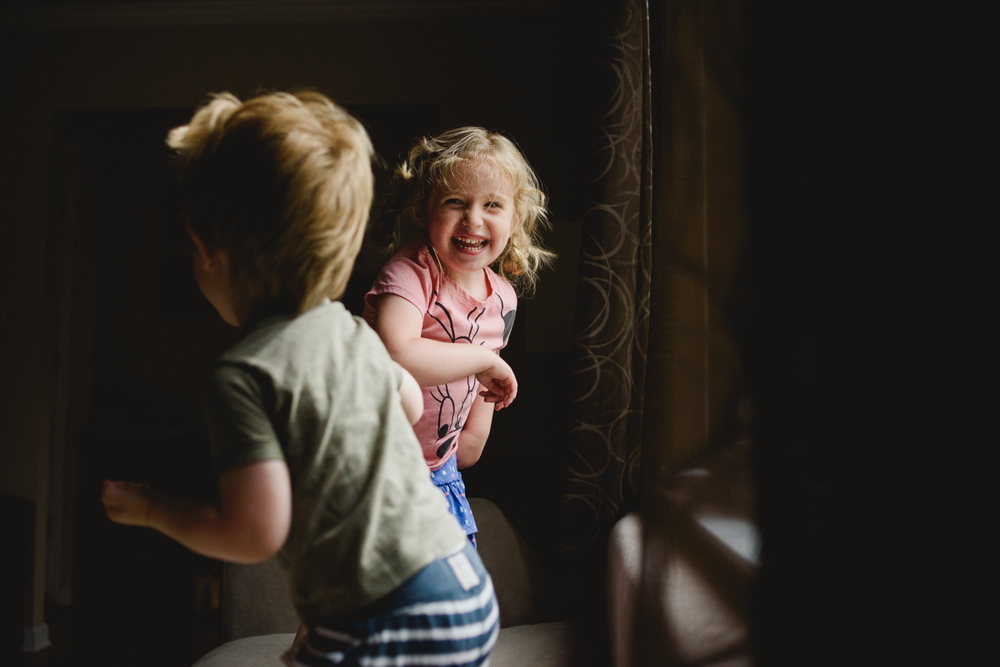 Francesca Russell Photography | Long Island Family Documentary Photography | Girl laughing