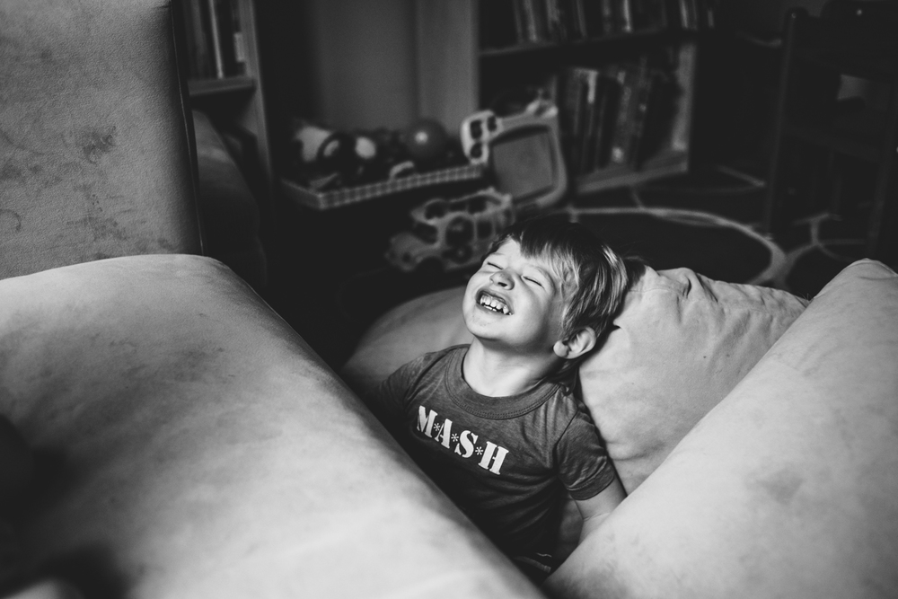 Francesca Russell Photography | Long Island Family Documentary Photography | Boy making funny face