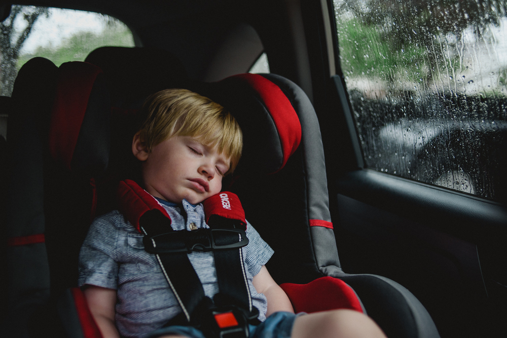 Francesca Russell Photography | Long Island Family Photographer | Toddler asleep in car seat