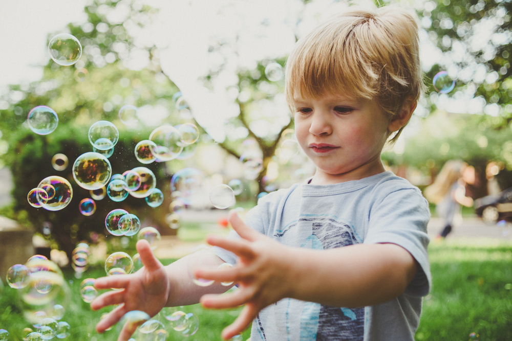 Francesca Russell Photography | Long Island Family Photographer | Toddler boy and bubbles