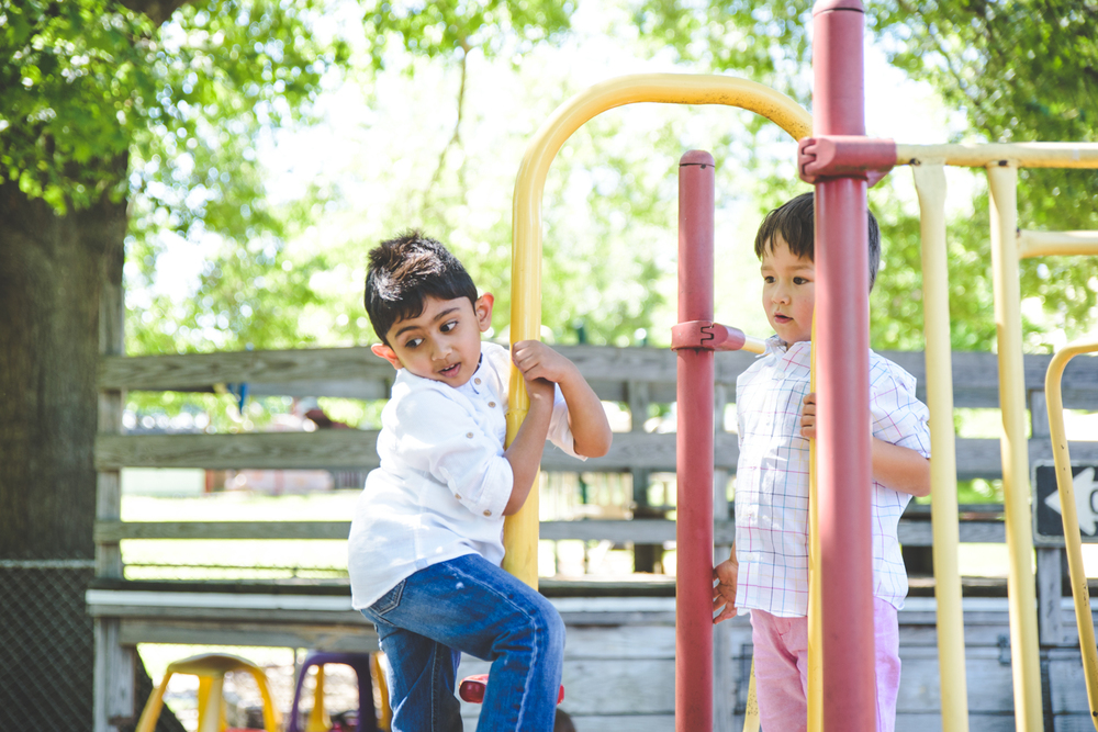 Francesca Russell Photography | Long Island Family Photographer | Boys on playground