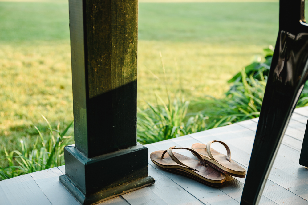 Francesca Russell Photography | Long Island Family Photographer | Flip flops on porch