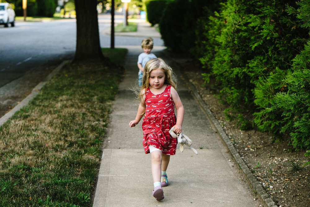Francesca Russell Photography | Documentary Family Photographer on Long Island | Kids on a walk