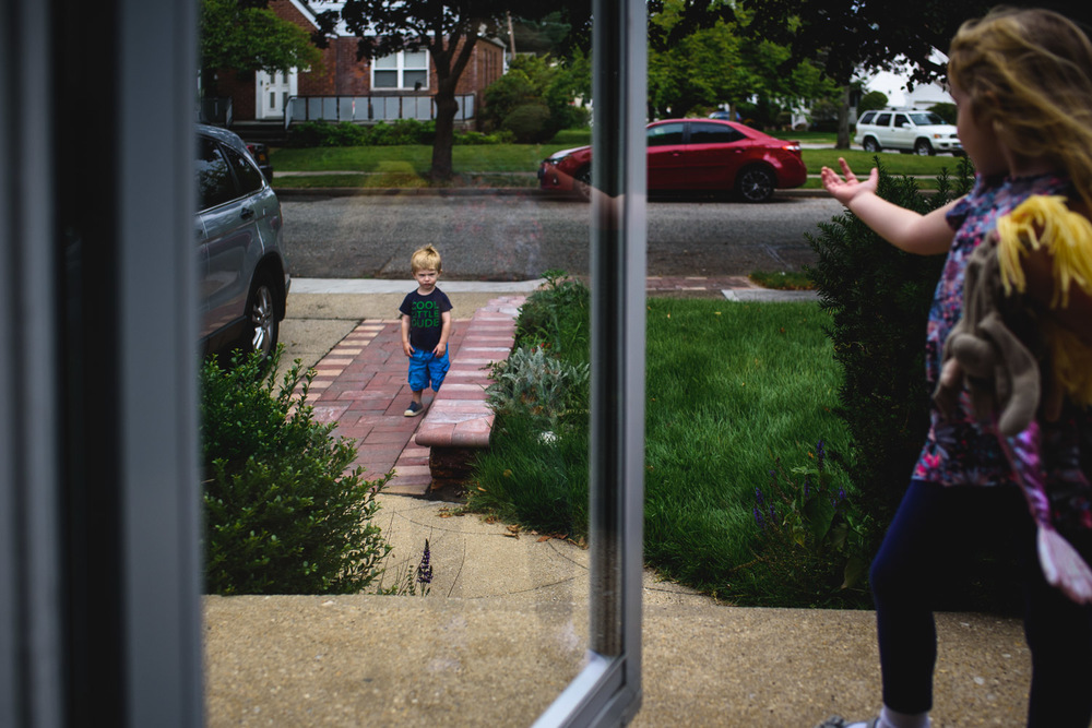Francesca Russell Photography | Long Island Family Documentary Photography | Kids on porch
