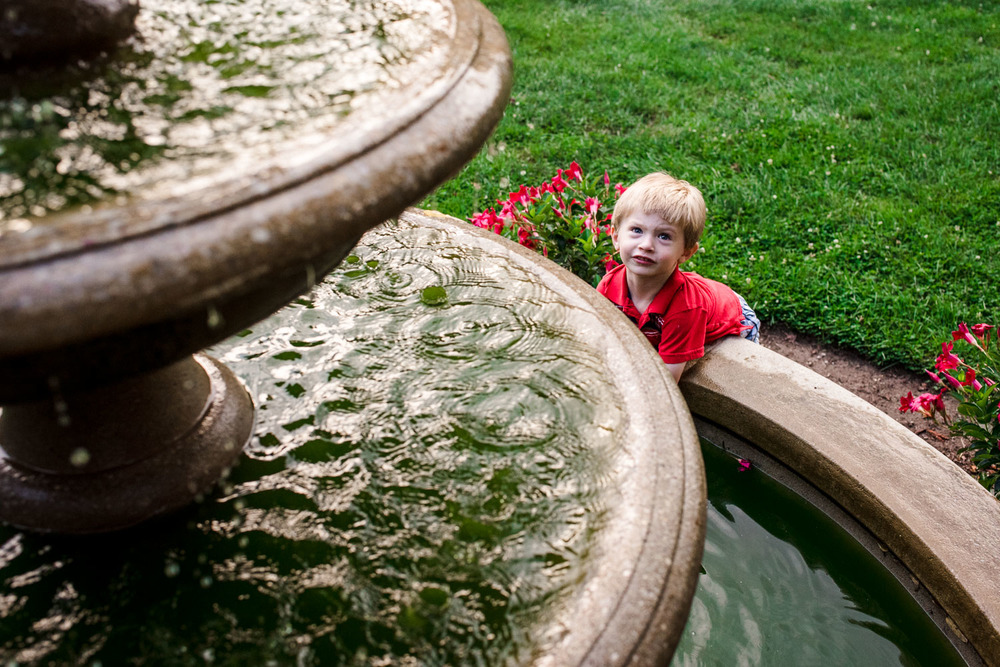 Francesca Russell Photography | Long Island Family Documentary Photography | Playing in the fountain