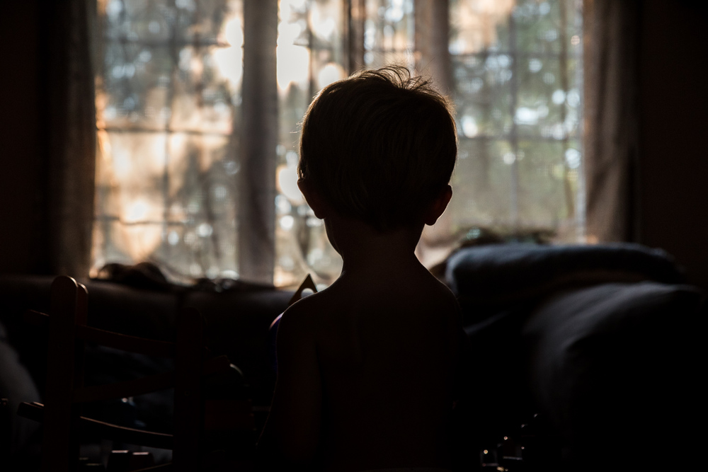 Francesca Russell Photography | Long Island Family Documentary Photography | Curtains closed