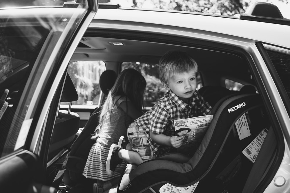 Francesca Russell Photography | Long Island Family Photographer | Getting into the car