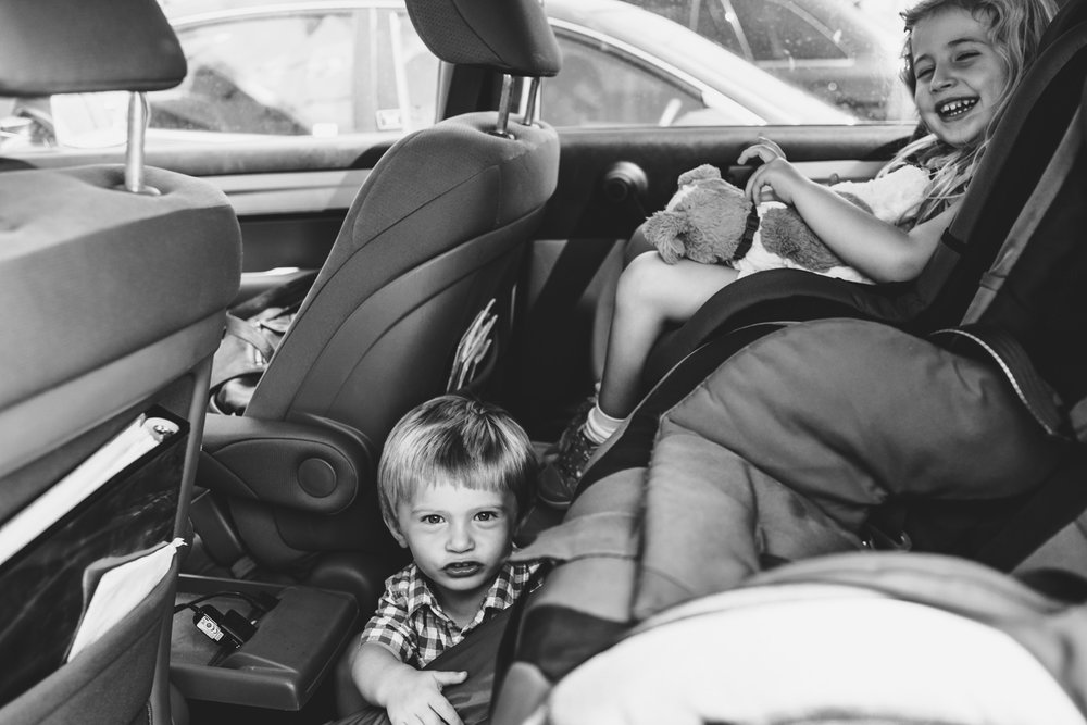 Francesca Russell Photography | Long Island Family Photographer | In the car