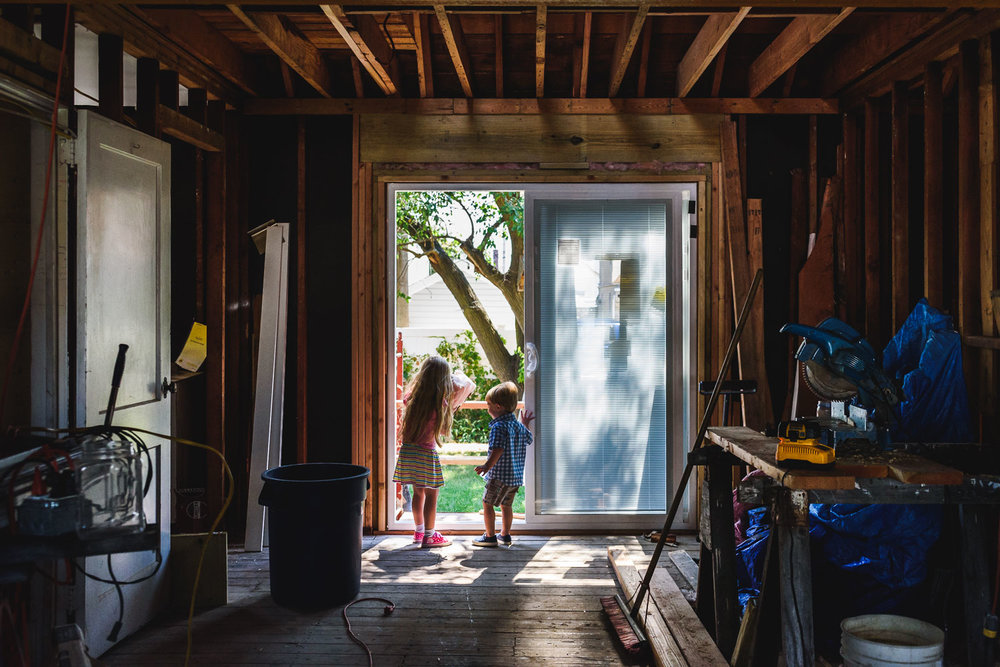 Francesca Russell Photography | Long Island Family Photographer | Looking out the sliding glass doors