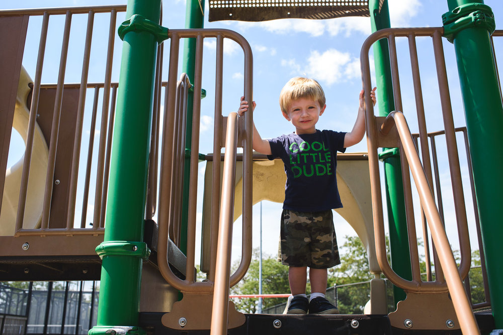 Francesca Russell Photography | Long Island Family Photographer | Logan on the play structure