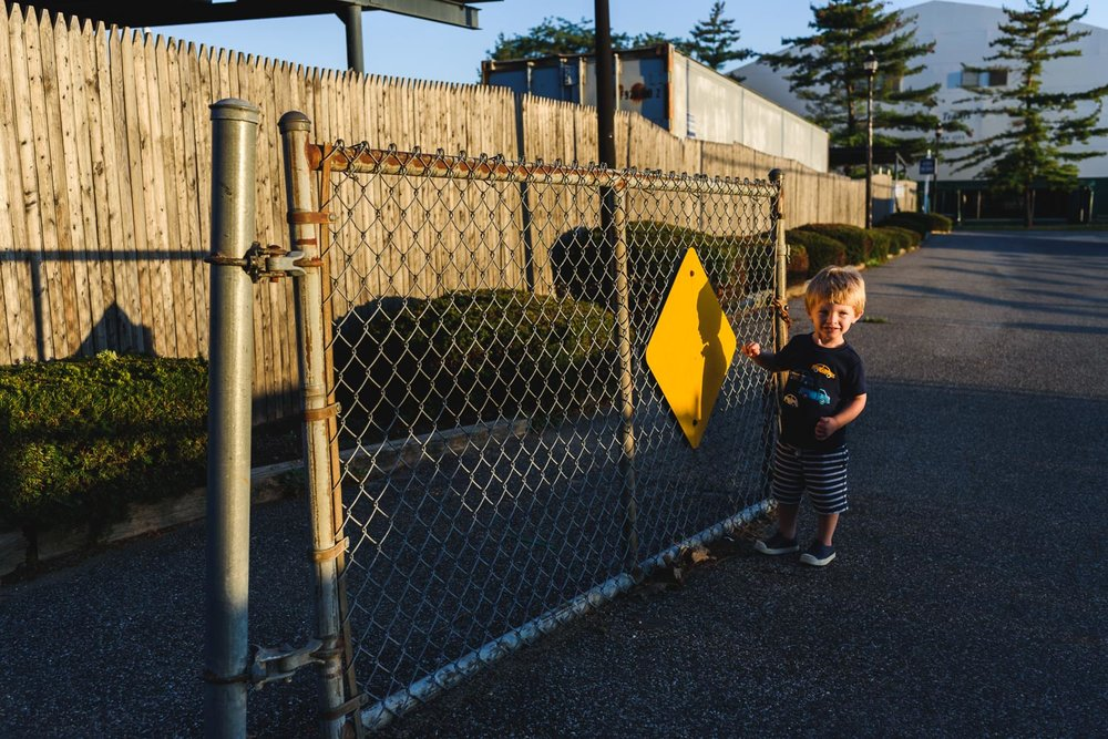 Francesca Russell Photography | Long Island Family Photographer | Logan at the gate