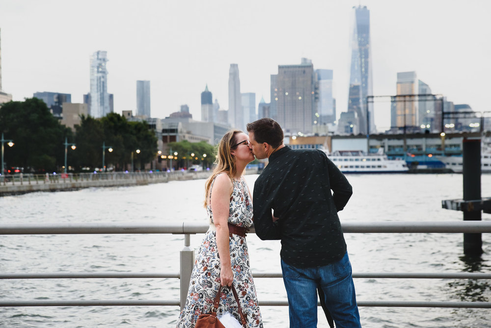 Francesca Russell Photography | New York City Family Photographer | A kiss at the waterfront