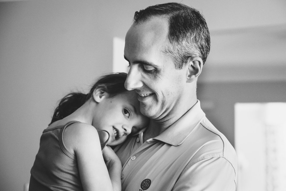 Francesca Russell Photography | Long Island Newborn Photographer | Dad and youngest daughter