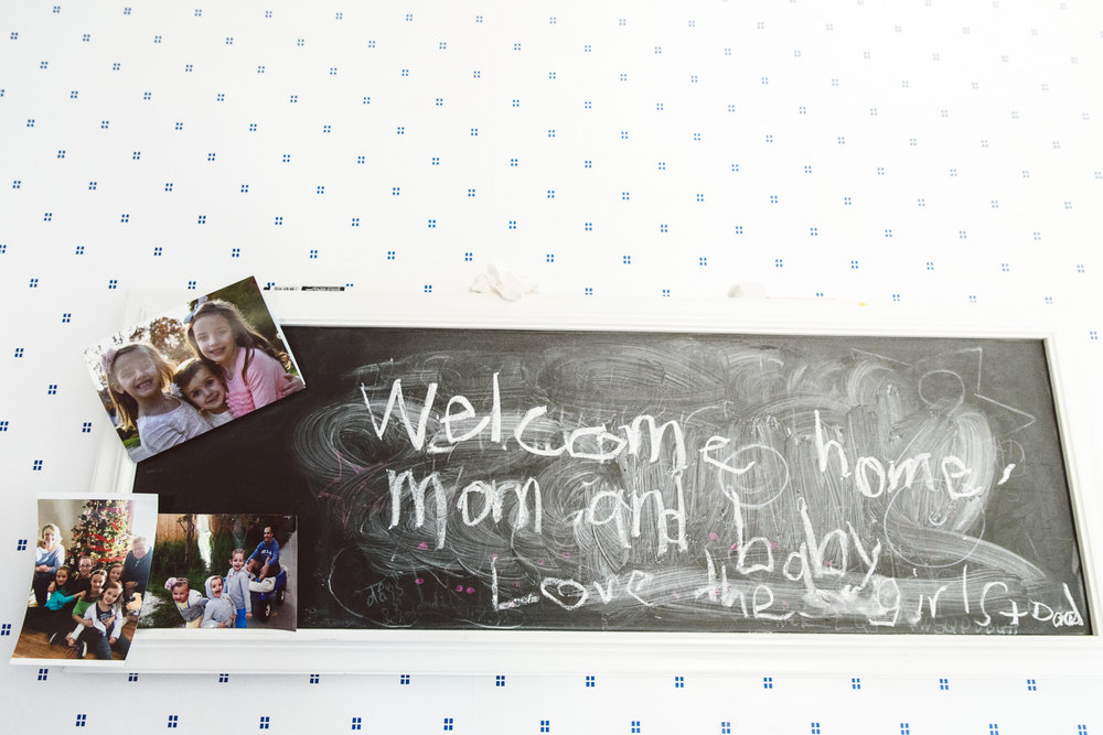 Francesca Russell Photography | Long Island Newborn Photographer | Welcome Home sign
