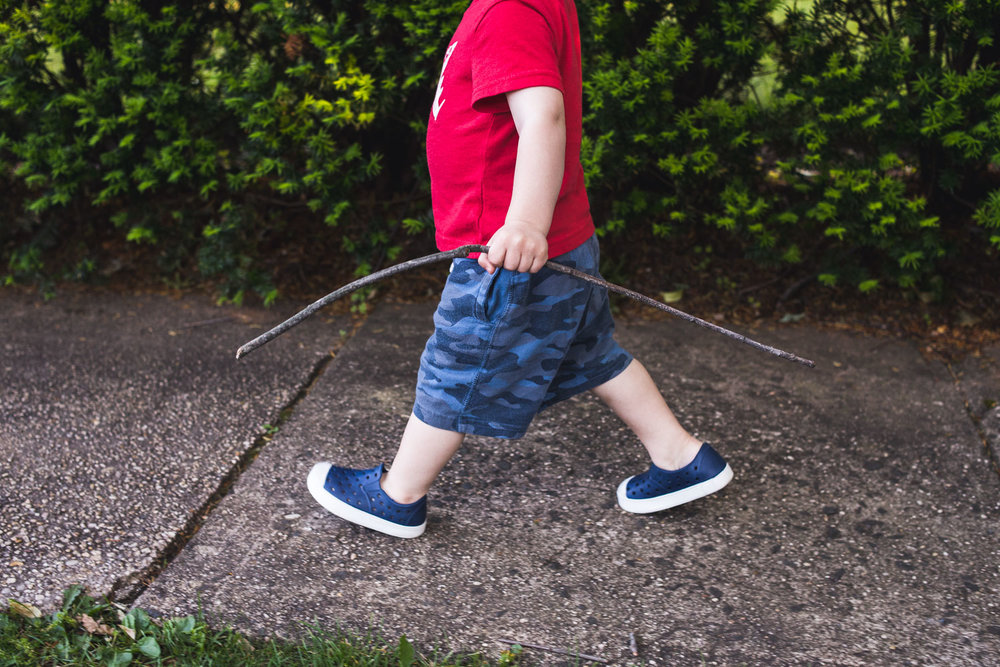 Francesca Russell Photography | Long Island Storytelling Photographer | Logan walking with a stick