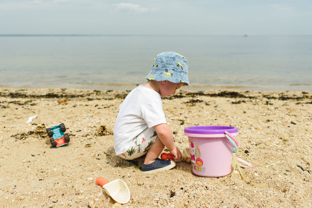 Francesca Russell Photography | Long Island & New York City Family Photographer | Building sand castles