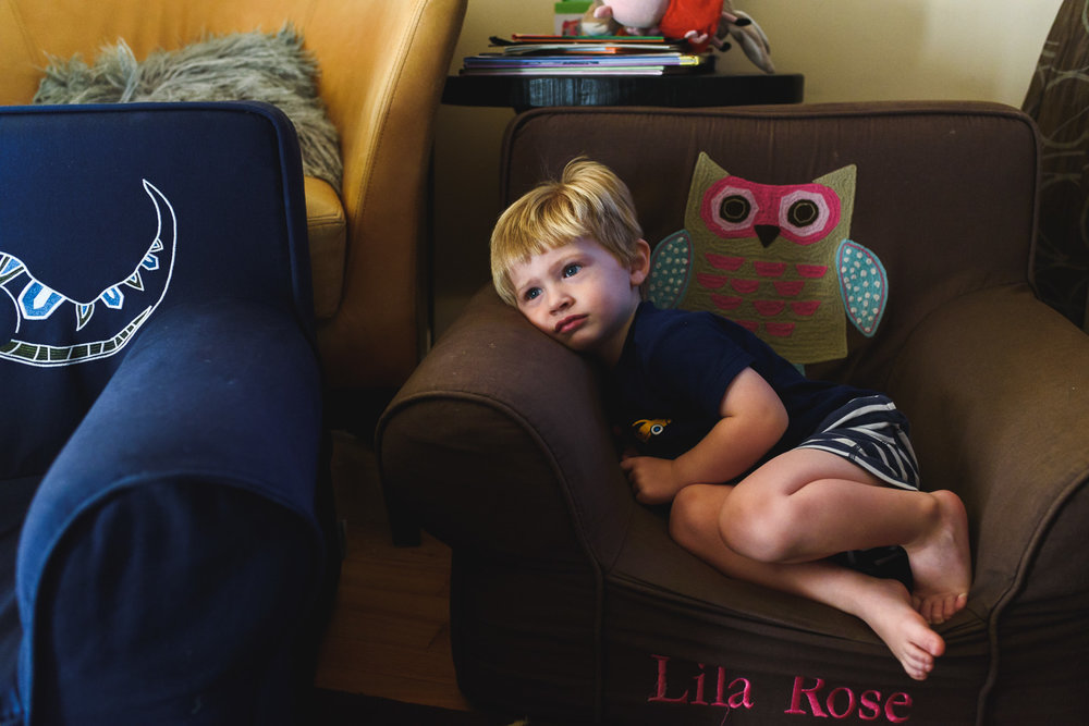 Francesca Russell Photography | Long Island & New York City Family Photographer | Boy watching TV