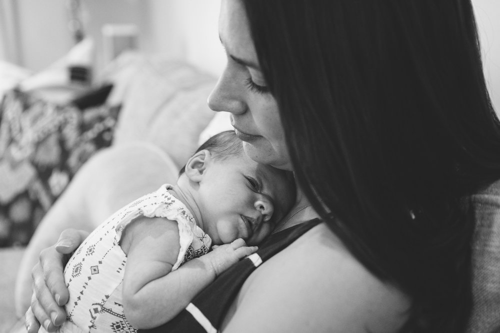 Francesca Russell Photography | Astoria, Queens Family Photography | Mom and newborn