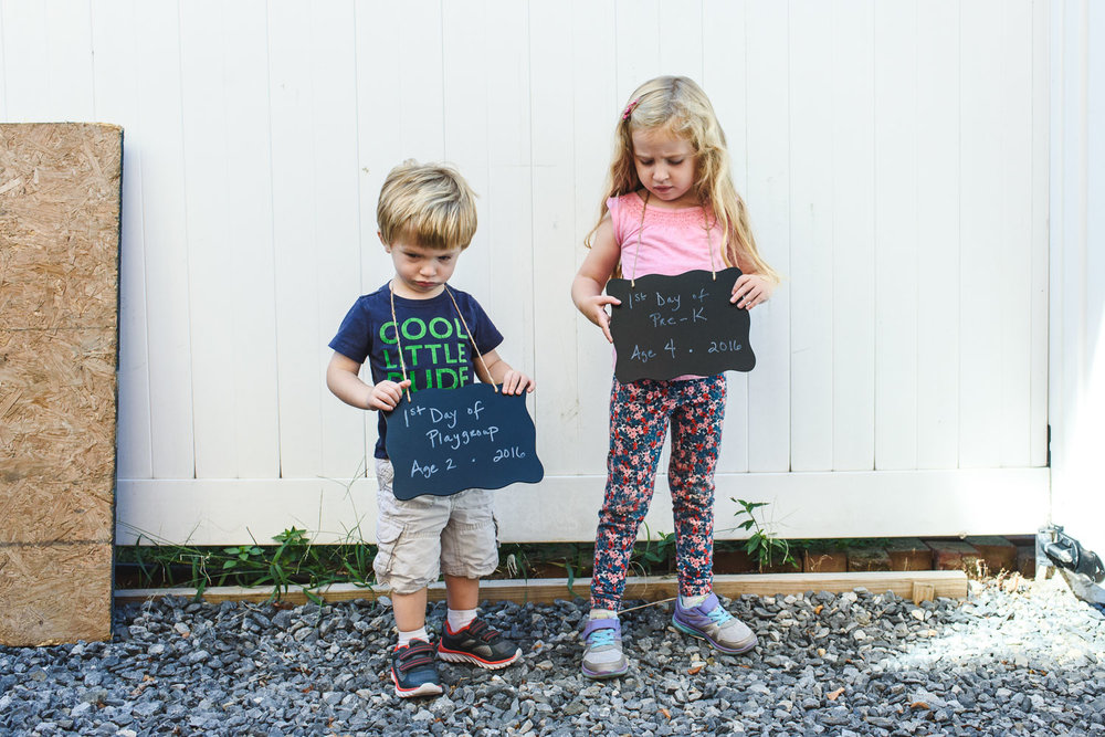 Francesca Russell Photography | Long Island Family Photographer | Grumpy kids first day of school
