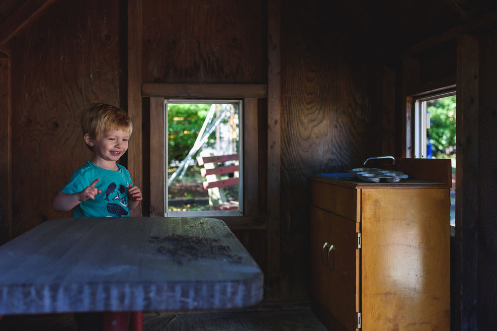 Francesca Russell Photography | Long Island Documentary Family Photographer | Logan in the playhouse
