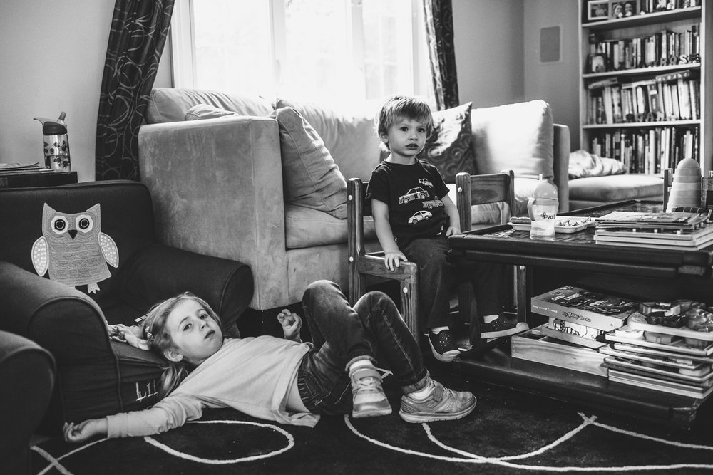 Francesca Russell Photography | Long Island Documentary Family Photographer | watching TV