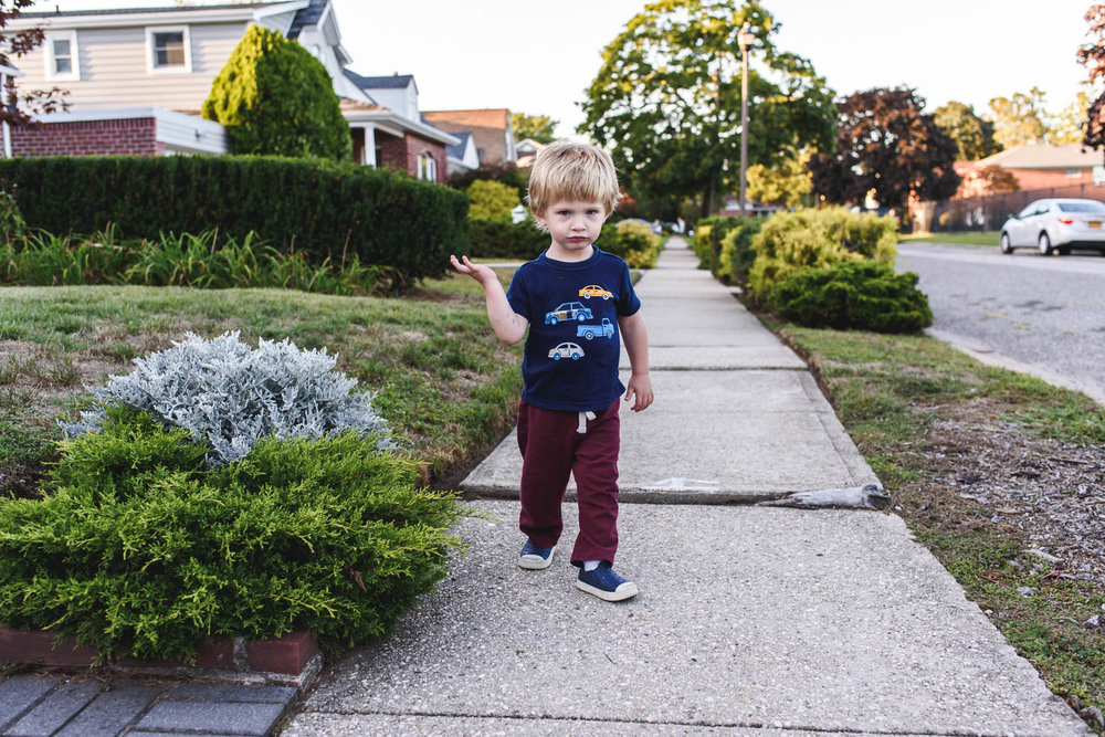 Francesca Russell Photography | Long Island Documentary Family Photographer | Logan on a walk