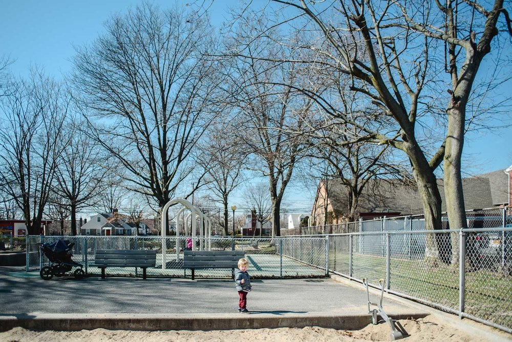 Little boy at Garden City South playground.