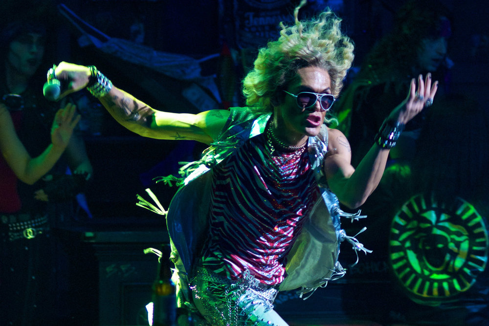 "MiG Ayesa as Stacee Jaxx in ""Rock of Ages""."