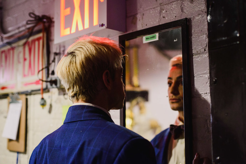 "Frankie Grande backstage at ""Rock of Ages""."