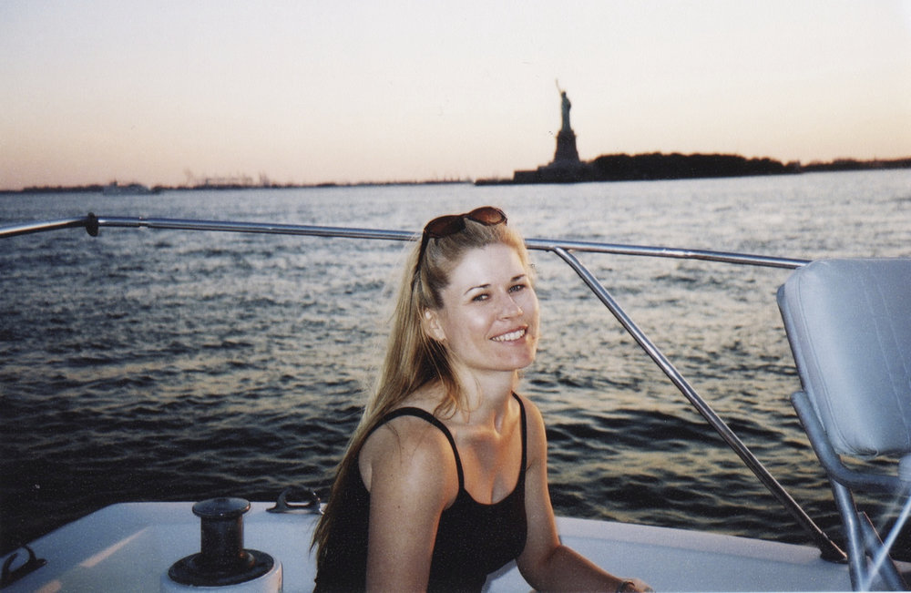 Me on a sailboat in the Hudson River in 2004.