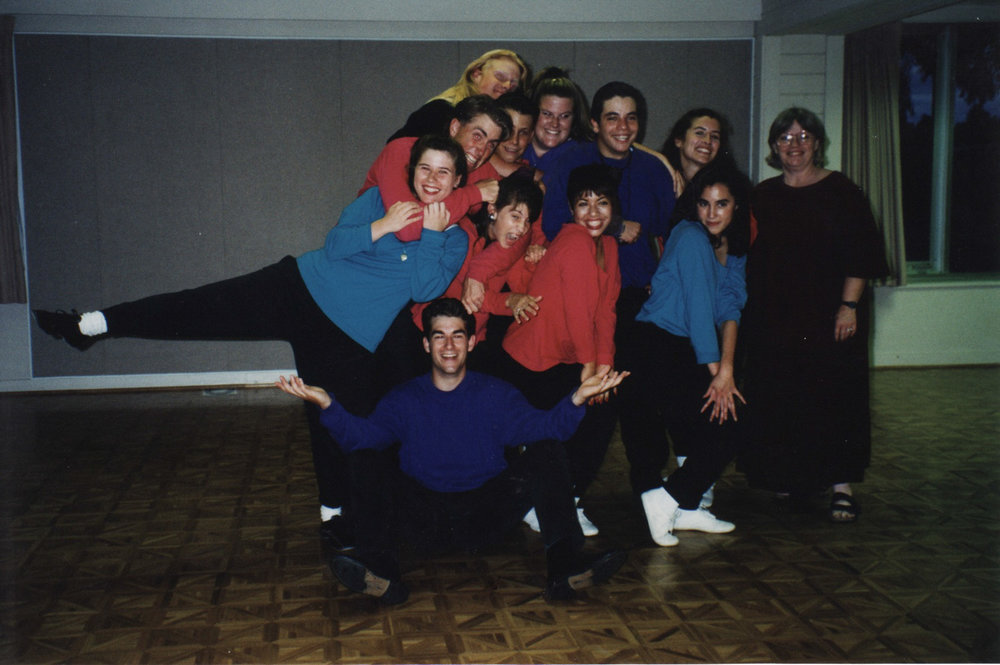 "Singing group ""Ta Dah"" - high school years."