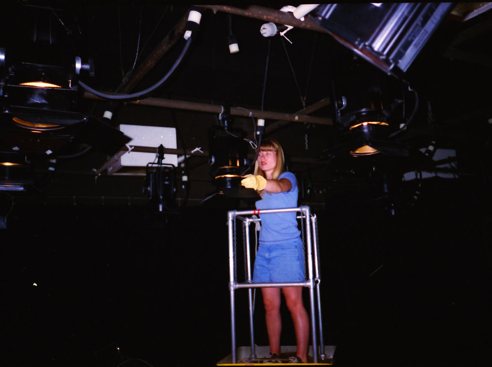 Working as a stagehand - San Diego, 1996.