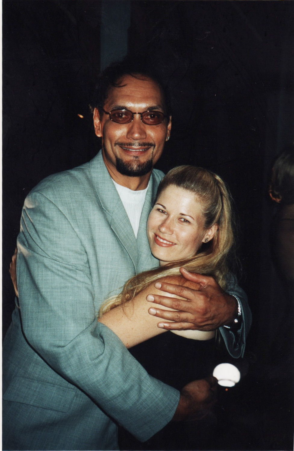 "With Jimmy Smits - ""Twelfth Night"", Shakespeare in the Park 2002"