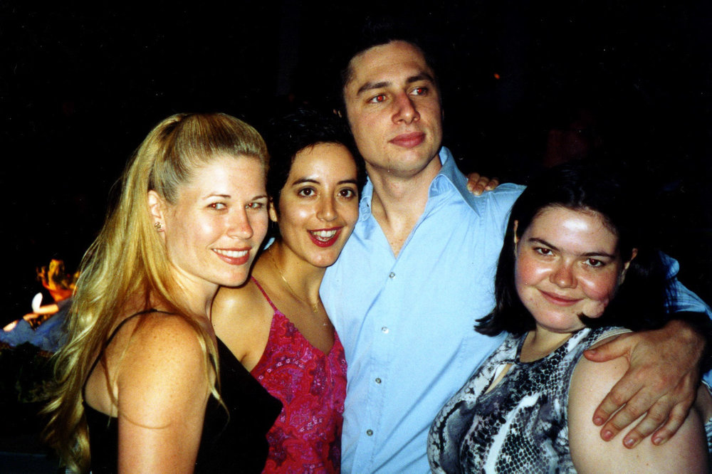 "With Zach Braff - ""Twelfth Night"", Shakespeare in the Park 2002"
