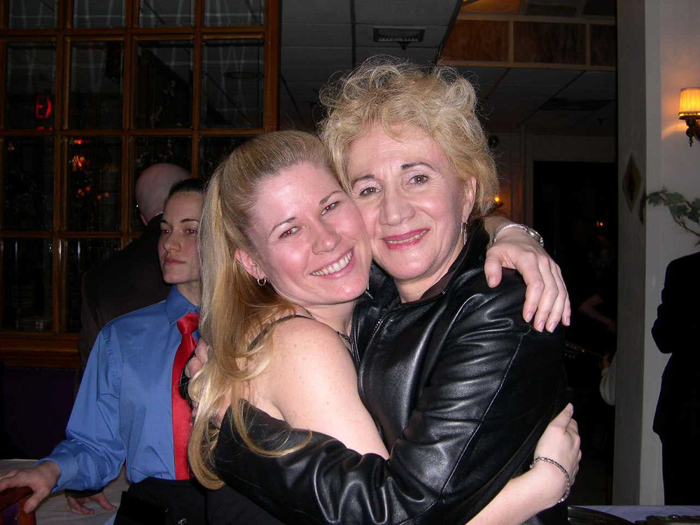 "With Olympia Dukakis, 2004 ""Agamemnon"""