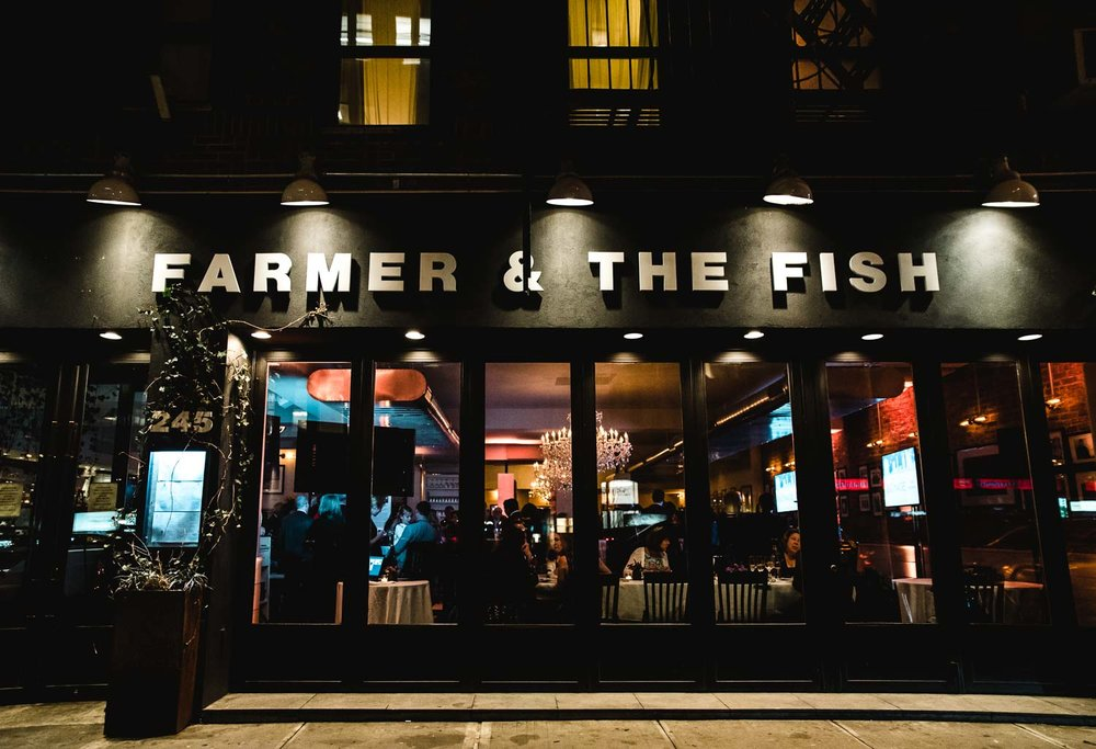 The Farmer and the Fish at night.