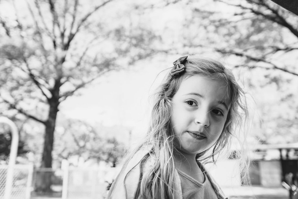 Portrait of a little girl at the park.