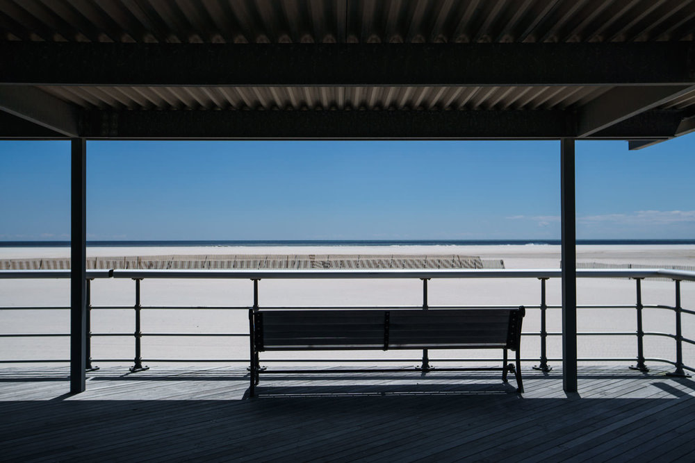 Bench at Jones Beach.