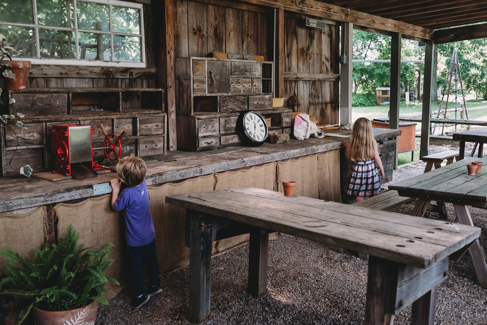 Kids explore a learning kitchen at the Berkshire Botanical Garden.