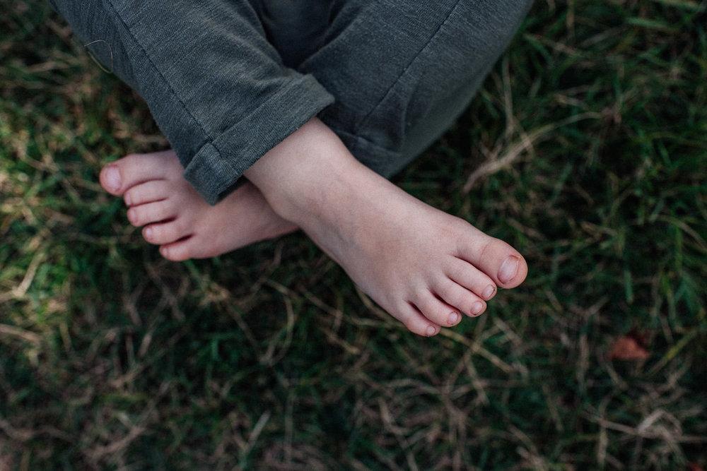 Toddler feet.