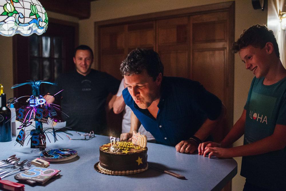Celebrating a 50th birthday.