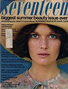 Seventeen Magazine, June 1974 cover.