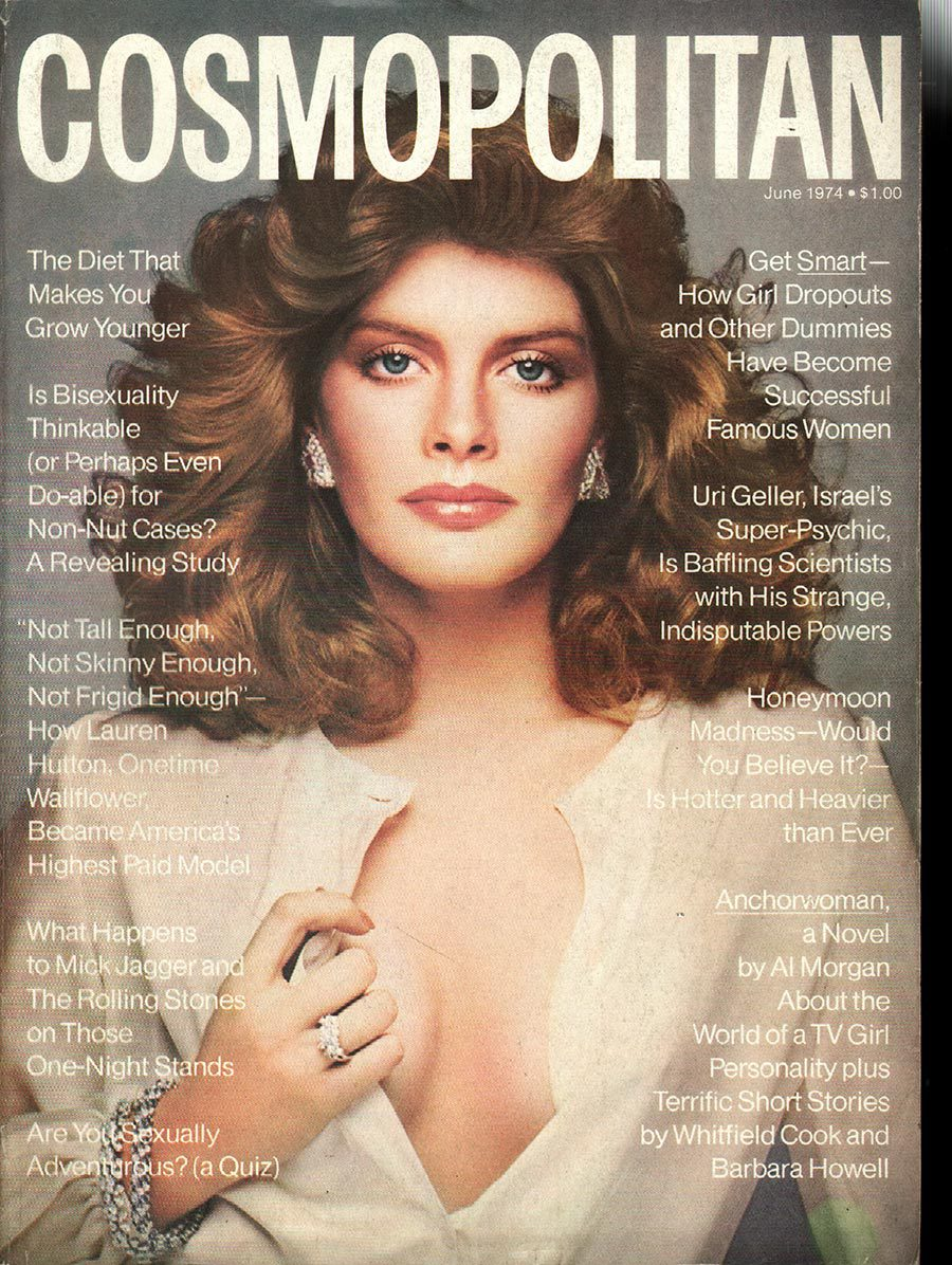 Cosmopolitan magazine cover, June 1974