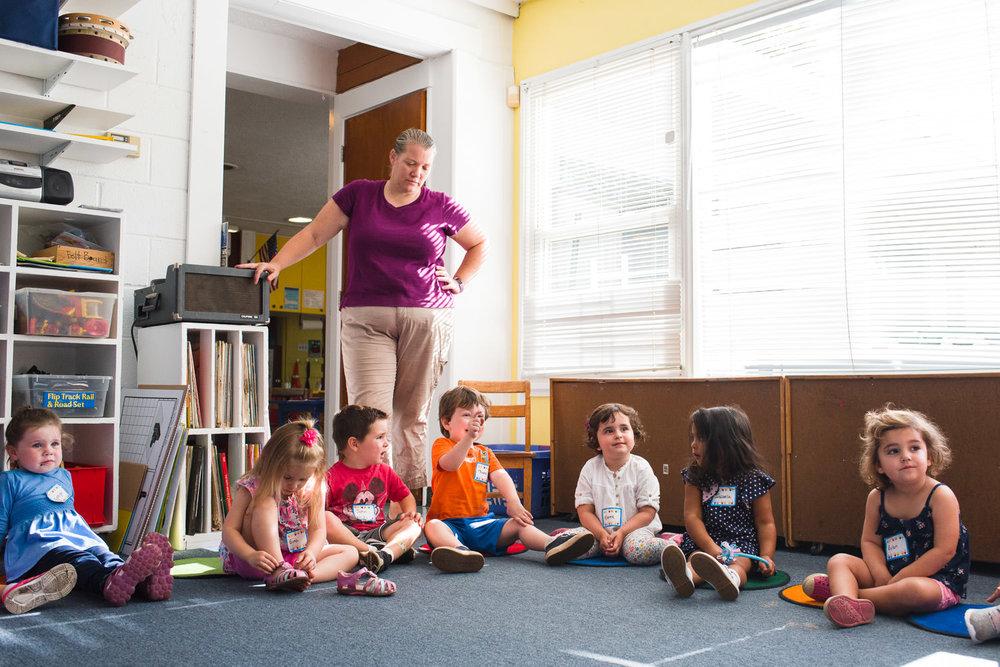 Circle time at preschool.