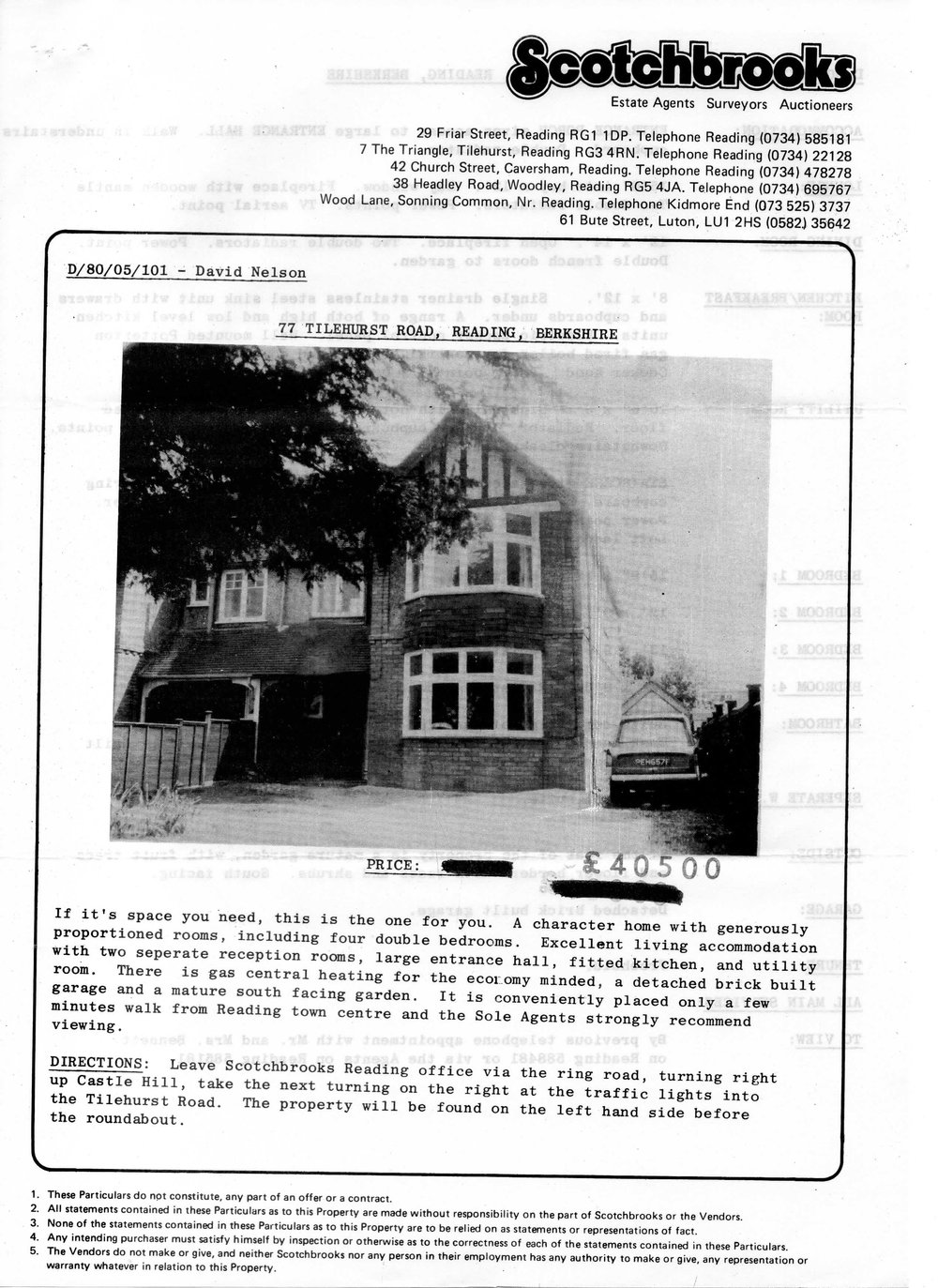 Real Estate flyer for 77 Tilehurst Road.